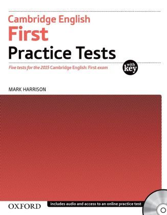 Cambridge English First Practice tests with key CD & Online practice pk 2015