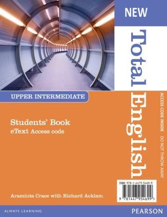 Total English NEW Upper-Intermediate SB eText AccessCodeCard